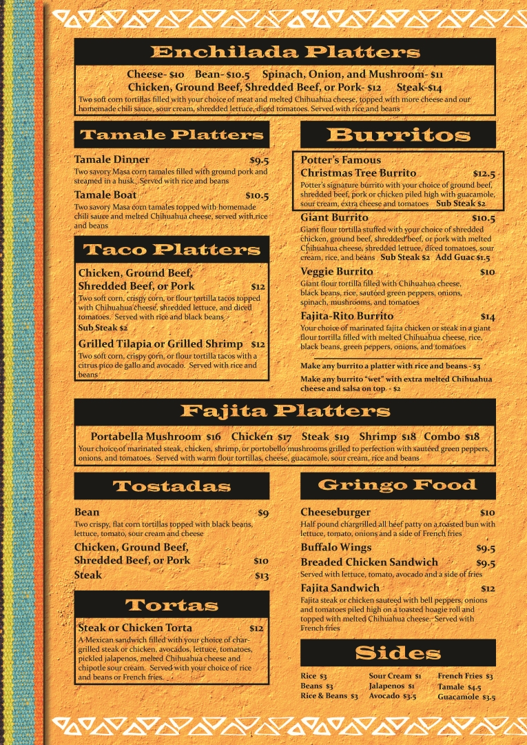 Tamale Kitchen Menu 1 Download Flyer Mexican Kitchen Menu Photo Of Monte Alban Restaurante