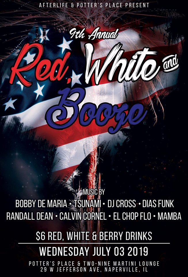 The 9th Annual Red, White & Booze 3rd of July Party!